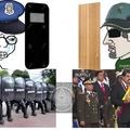 Si son aweonados y no entendieron están protegiendo al presidente con pedazos de cartón